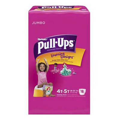 Toddler Training Pants Pull-Ups Learning Designs Pull On 4T - 5T Disposable Heavy Absorbency