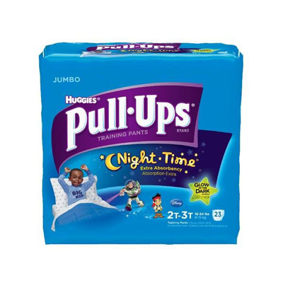 Toddler Training Pants Pull-Ups Night-Time Pull On 2T - 3T Disposable Heavy Absorbency