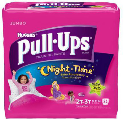 Toddler Training Pants Pull-Ups Night-Time Pull On 3T - 4T Disposable Heavy Absorbency