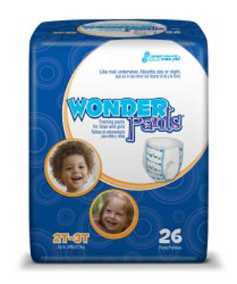 Toddler Training Pants WonderPants Pull On 2T - 3T Disposable Heavy Absorbency