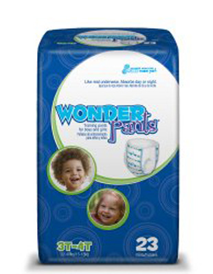 Toddler Training Pants WonderPants Pull On 3T - 4T Disposable Heavy Absorbency