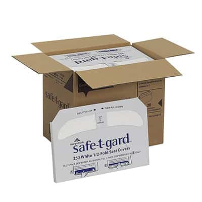Toilet Seat Cover Safe T Gard Half Fold 14-1/2 X 17 Inch