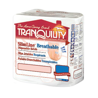 Tranquility SlimLine Breathable Briefs - Medium - 2305 96 /cs (8 bags of12)