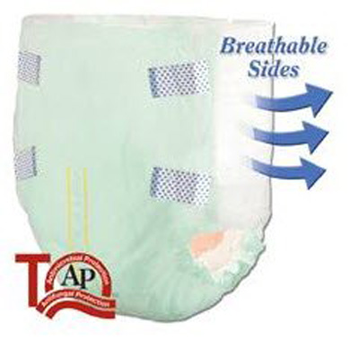 Tranquility SmartCore Disposable Briefs - Large - 2313 96 /cs (8 bags of 12)