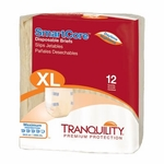 Tranquility SmartCore Disposable Briefs - X-Large - 2314 72 /cs (6 bags of 12)