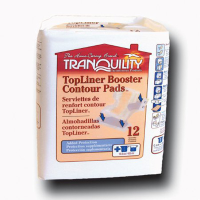 Tranquility TopLiner Booster Pads - Mini - 2072 200 /cs (8 bags of 25)
