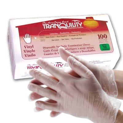Tranquility Vinyl Exam Gloves - Small - 3104
