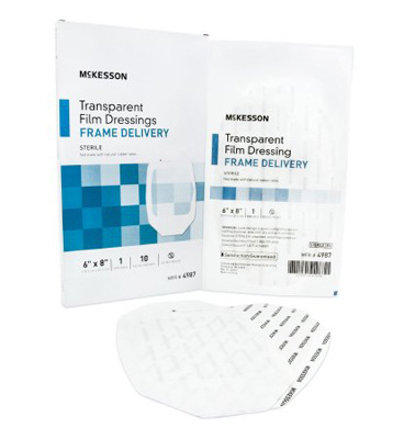 Transparent Film Dressing McKesson Octagon 6 X 8 Inch Frame Style Delivery Without Label Sterile