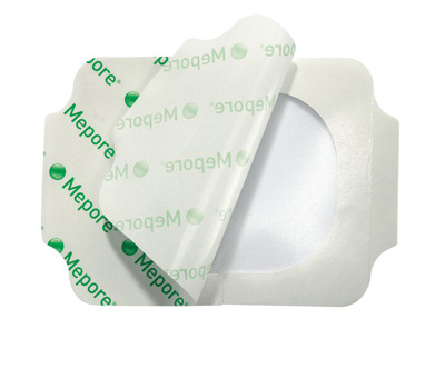 Transparent Film Dressing Mepore Film Rectangle 4 X 5 Inch Frame Style Delivery Without Label Sterile