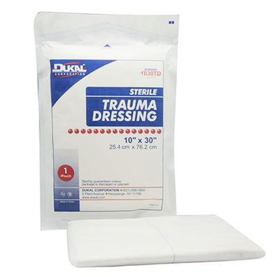 Dukal Trauma Dressing NonWoven 10 X 30 Inch Rectangle Sterile - Case of 25