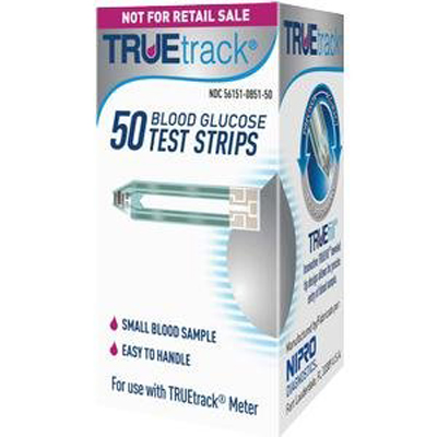 TRUEtrack® Blood Glucose Test Strips, Retail, 50ct
