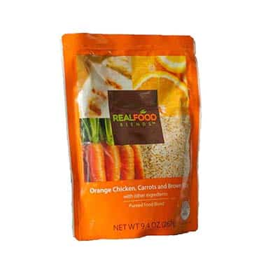 Tube Feeding Formula Real Food Blends 9.4 oz. Pouch Ready to Use Orange Chicken / Carrots / Brown Rice Adult / Child