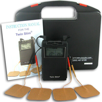 Roscoe Medical Twin Stim Combo Dual Channel TENS Unit and Muscle Stimulator Unit