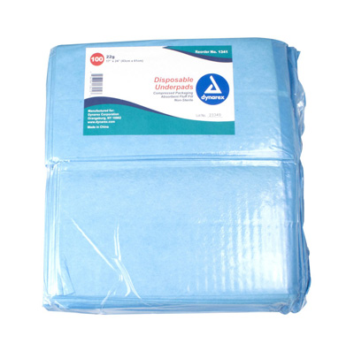 Dynarex Underpad 17 X 24 Inch Disposable Fluff Light Absorbency - 1341 - Case of 300