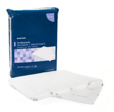 Underpad McKesson Max 24 X 36 Inch Disposable Fluff / Polymer Heavy Absorbency