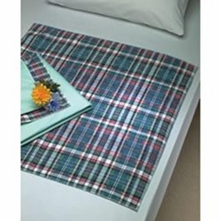 Underpad Plaidbex 18 X 24 Inch Reusable Polyester / Rayon Heavy Absorbency
