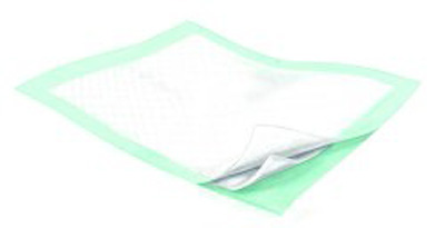 Underpad Wings 36 X 36 Inch Disposable Fluff / Polymer Heavy Absorbency
