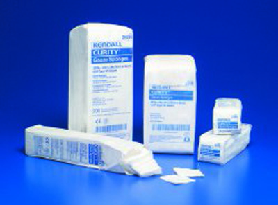 Curity USP Type VII Gauze Sponge Cotton 12-Ply 3 X 3 Inch Square NonSterile - Case of 4000