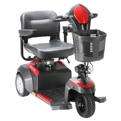 Drive Medical Ventura 3 Wheel Scooter with Folding Seat ventura318fs