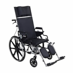 Drive Medical Viper Plus GT 18 inch Reclining Wheelchair with Desk Arms Model pla418rbdda