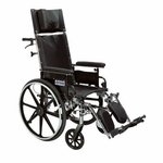 Drive Medical Viper Plus GT 20 inch Reclining Wheelchair with Detachable Desk Arms pla420rbdda