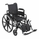 Drive Medical Viper Plus GT Wheelchair with Flip Back Removable Adjustable Desk Arm and Elevating Leg Rest Model pla418fbdaarad-elr