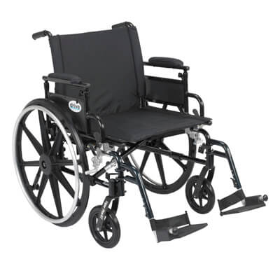 Drive Medical Viper Plus GT Wheelchair with Flip Back Removable Adjustable Desk Arm and Swing Away Footrest pla422fbdaar-sf