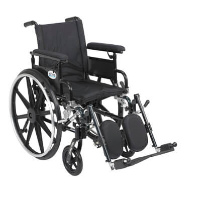 Drive Medical Viper Plus GT Wheelchair with Flip Back Removable Adjustable Full Arm and Elevating Leg Rest pla416fbfaarad-elr