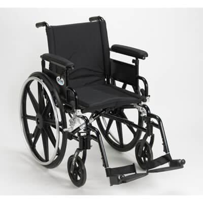 Drive Medical Viper Plus GT Wheelchair with Flip Back Removable Adjustable Full Arm and Swing Away Footrest Model pla418fbfaarad-sf