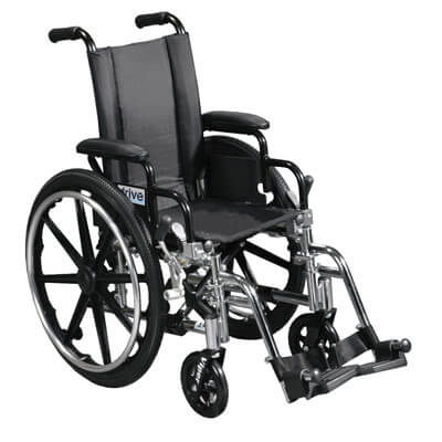 Drive Medical Viper Wheelchair with Flip Back Removable Desk Arms and Swing Away Footrest l412dda-sf