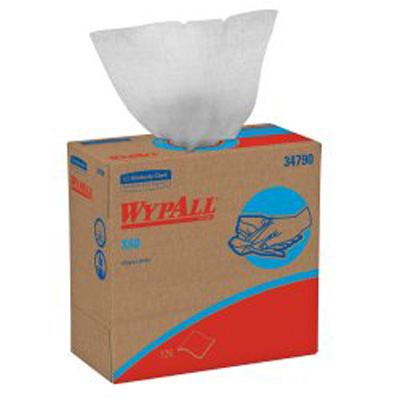 WypAll X60 Task Wipe Light Duty White NonSterile Cellulose / Polypropylene 9-1/10 X 16-4/5 Inch Reusable