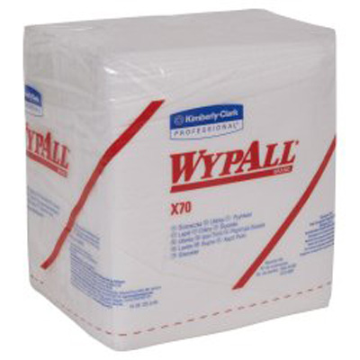 WypAll X70 Task Wipe Heavy Duty White NonSterile Cellulose / Polypropylene 12 X 12-1/2 Inch Reusable
