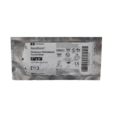 Xeroform Petrolatum Impregnated Dressing 5 x 9 in Gauze Bismuth Tribromophenate / Petrolatum Sterile