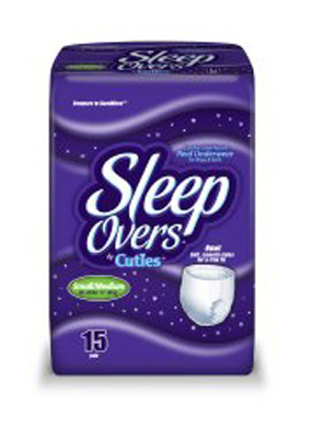 Youth Absorbent Underwear Cuties Sleep Overs Pull On Small / Medium Disposable Heavy Absorbency
