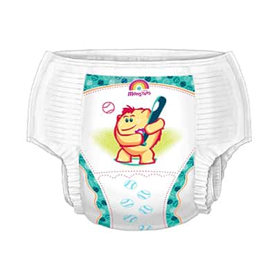 Curity Runarounds Pull On Medium Youth Training Pants Disposable Heavy Absorbency - Case of 1104