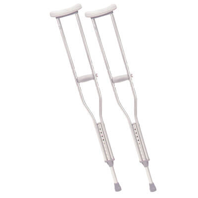 Drive Medical Youth Walking Crutches with Underarm Pad and Handgrip 10401-1