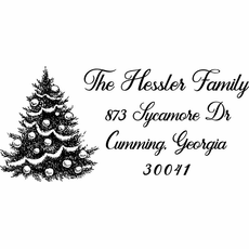 Christmas Return Address Stamp - The Hessler