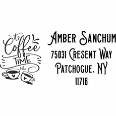 Custom Address Stamp - The Coffee Lovers