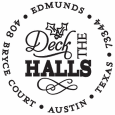 Holiday Stamp - Deck the Halls