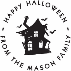 Holiday Stamp - Halloween Cat Shack