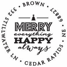 Holiday Stamp - Merry Always