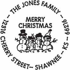 Holiday Stamp - Snow Family