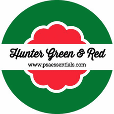 Hunter Green and Red Ink