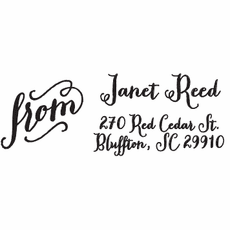 Rectangle Stamp - Janet