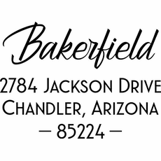 Name and Address Stamp - The Bakerfield