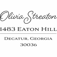 Name and Address Stamp - The Olivia