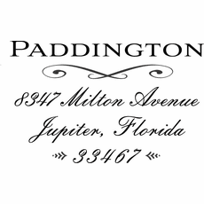 Name and Address Stamp - The Paddington