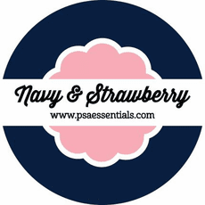 Navy and Strawberry Ink