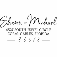 Personalized Address Stamp - The Sharon