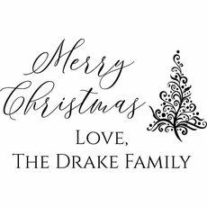 Personalized Christmas Gift Tag Stamp - The Drake